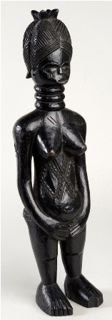 Carved Female Figure