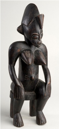 Seated Female Carving