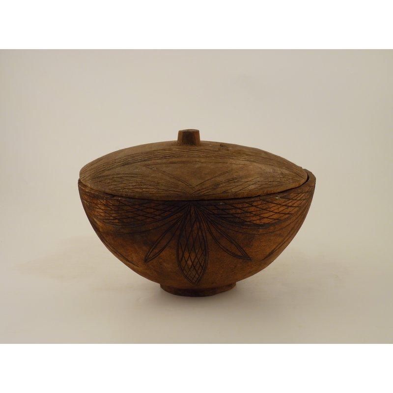 Wooden Lidded Bowl