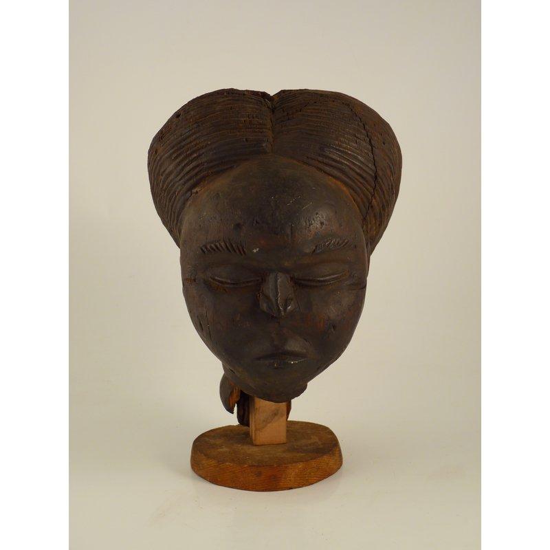 Wooden Female Head