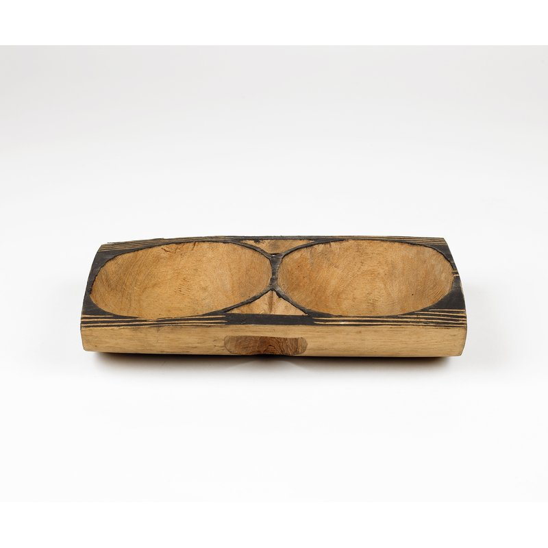 Double Wooden Bowl